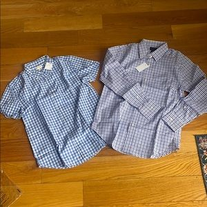 BRAND NEW size 12 J Crew boys button down shirts